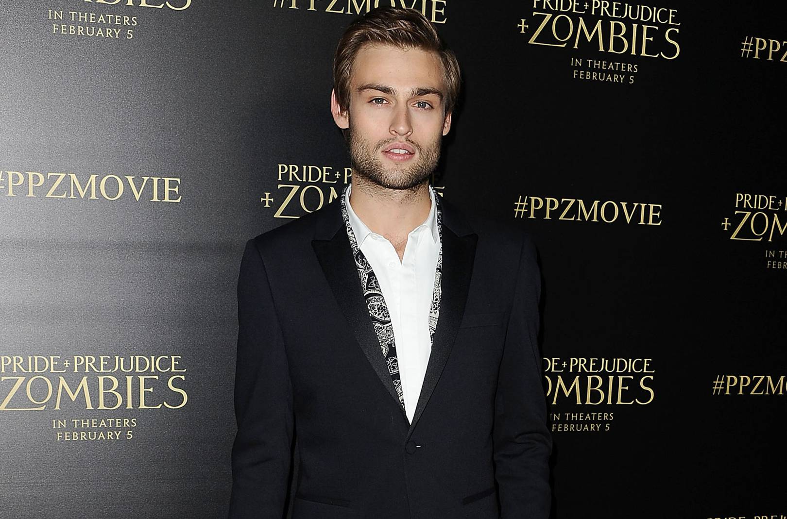 Douglas booth shows you how to pull off paisley british gq ccuart Choice Image