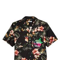 Hawaii floral-print cotton shirt by Valentino