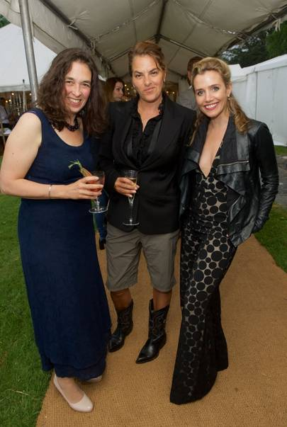 Corisande Albert, Tracey Emin and Lisa Dwan
