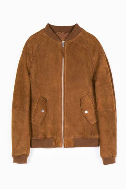 Stradivarius suede bomber jacket
