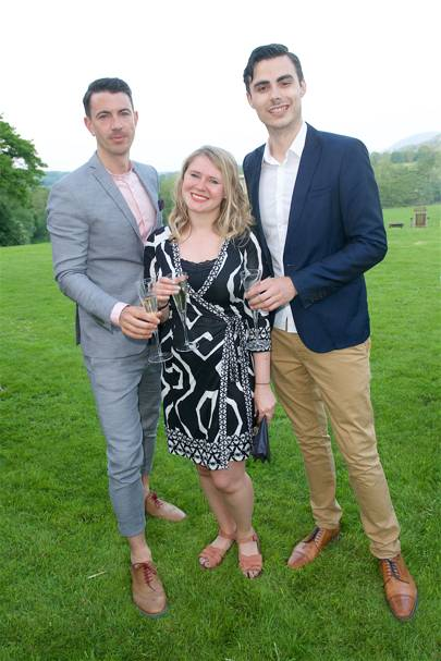 Adam Barriball, Lindsey Cleland and Martyn Landi