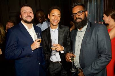 Rebel Kleff, Loyle Carner and  Romesh Ranganathan
