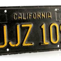 Frank Bullitt's (Steve McQueen) License Plate from Bullitt (1968)