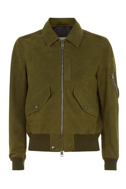 Burberry Brit nubuck bomber jacket