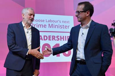 Jeremy Corbyn and Owen Smith