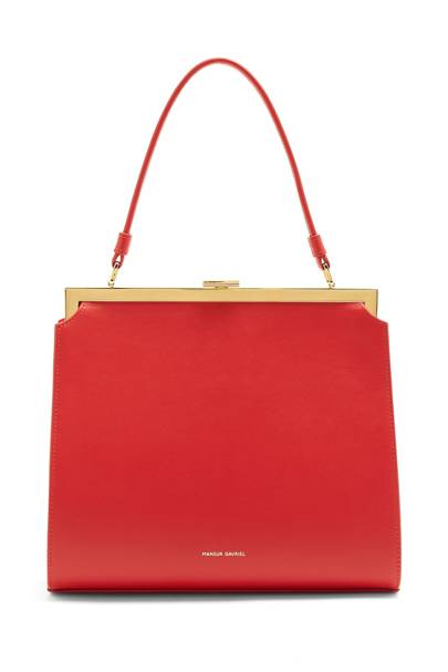 Mansur Gavriel top-handle leather bag
