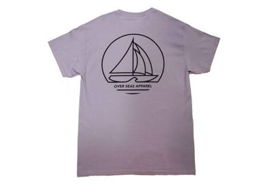 Sailing Sunset Pinky/Purple T-Shirt by Over Seas Apparel