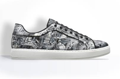 Dior Homme painted denim trainers