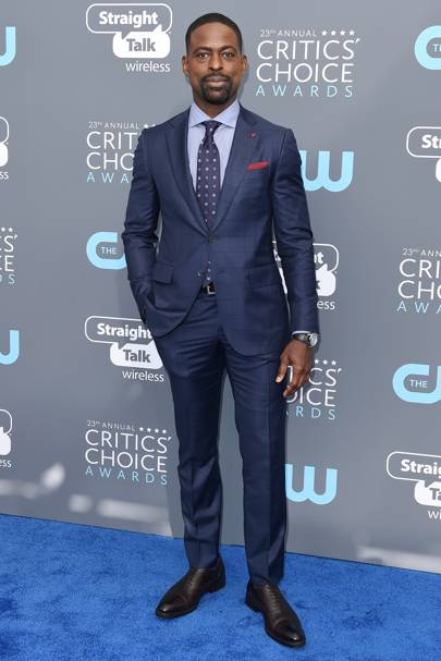 Sterling K. Brown in Isaia and a Chopard watch