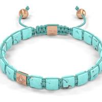 Shamballa Jewels rose gold and turquoise bracelet