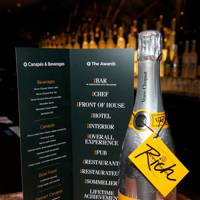 GQ Food and Drink Awards guest drink, Veuve Clicquot Rich