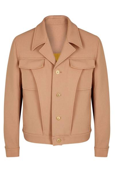 Qasimi sepia wool jacket