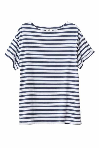David Beckham H&M Modern Essentials striped T-shirt