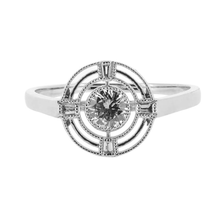 Fine Rings 18 Ct White Gold Solitaire Diamond Ring To Adopt Advanced Technology