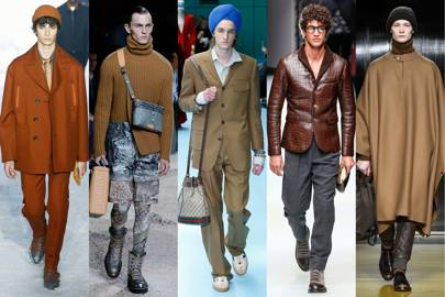 6. You should definitely be wearing brown in town