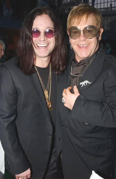 Ozzy Osbourne and Elton John