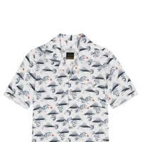 Percival 'Fuji Hokusai' Cuban collar shirt