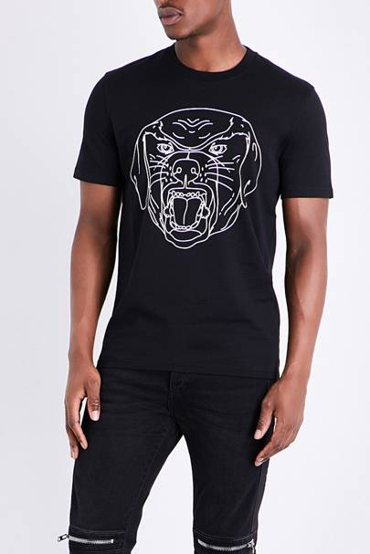 Givenchy rottweiler-logo T-shirt