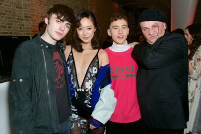 Lennon Gallagher, Betty Bachz, Olly Alexander and Sascha Lilic