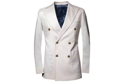 SG Double Breasted Blazer - Ivory by Southern Gents