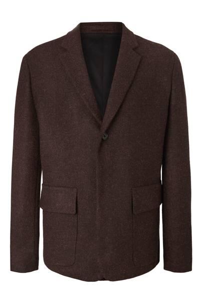 Brown Mélange Harris Tweed Blazer by Margaret Howell