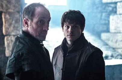Michael McElhatton and Iwan Rheon as Roose and Ramsay Bolton