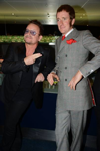 Bono and Bradley Wiggins