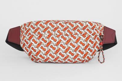 Medium monogram print bum bag by Burberry