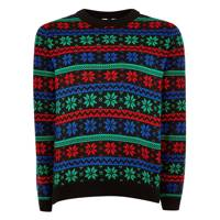 Christmas Snowflake Stripe Jumper