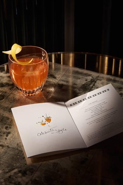 Smythson x Connaught Bar cocktail cards
