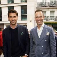 Johannes Huebl and Andrew Weitz