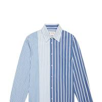 Patchwork shirt in pinstriped cotton by Marni