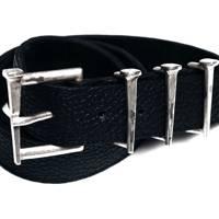 Bison.925 Silver Box Nail Belt by Marcel Everette