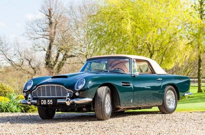 Aston Martin DB5 in Goodwood Green