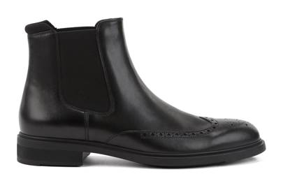 Black leather Chelsea boots by Boss