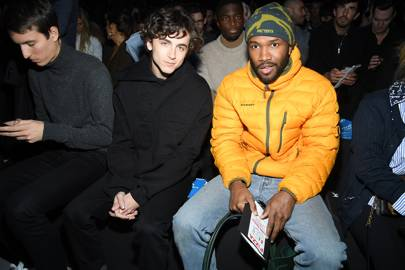 Timothée Chalamet and Frank Ocean are brothers in winter grooming
