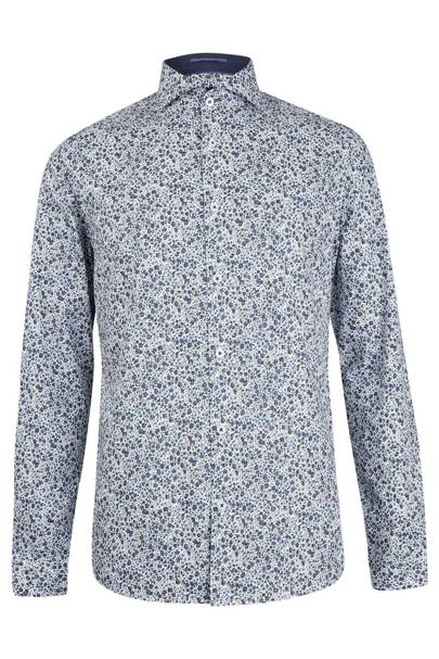 Burton 'Spitalfields Co' floral shirt with Liberty fabric