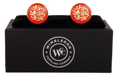 Three English Lions Cufflink by Wimbledon Cufflink Company