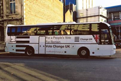 We asked illustrators to design a Change UK bus that isn't an abomination