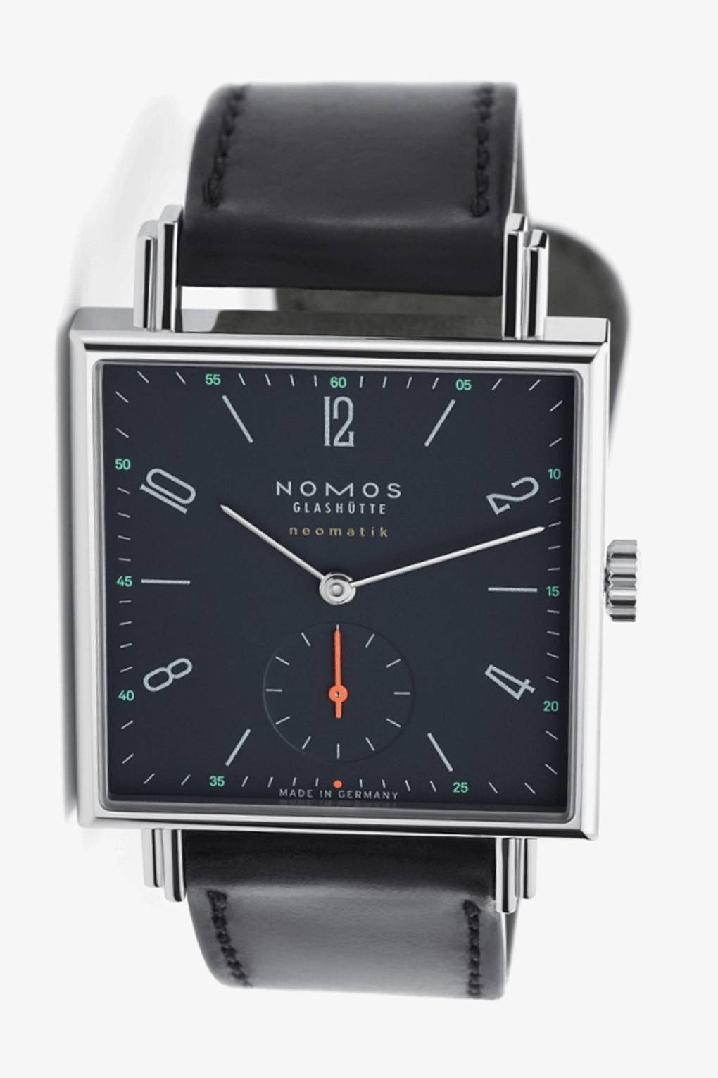 black for gallery steel in watches armani stainless lyst emporio rectangular watch product accessories men