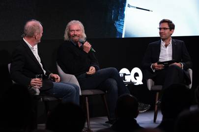 Dave 'Mac' Mackay and Sir Richard Branson in conversation with Charlie Burton