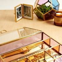 Urban Outfitters coloured glass jewellery box