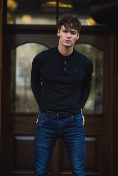 Henley Long Sleeve Polo by Benedict Raven
