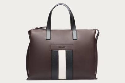 Bally striped leather bag
