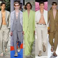 3. Suits worn with bare chests (it's a thing)