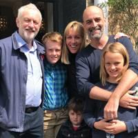 Matt Kelly, his family and Jeremy Corbyn