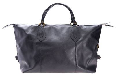 Leather travel bag by Barbour