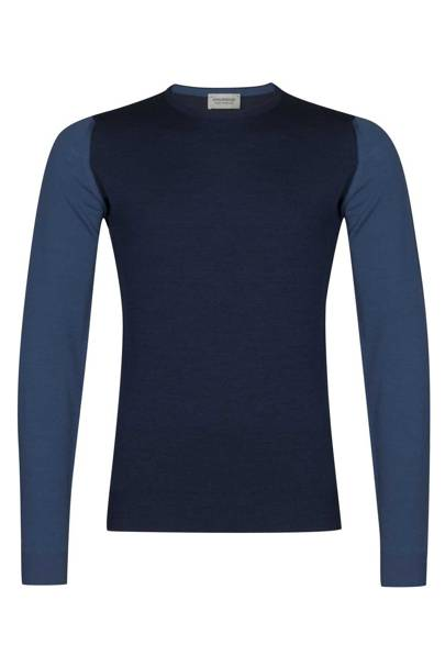 Midnight-blue pullover by John Smedley, £160