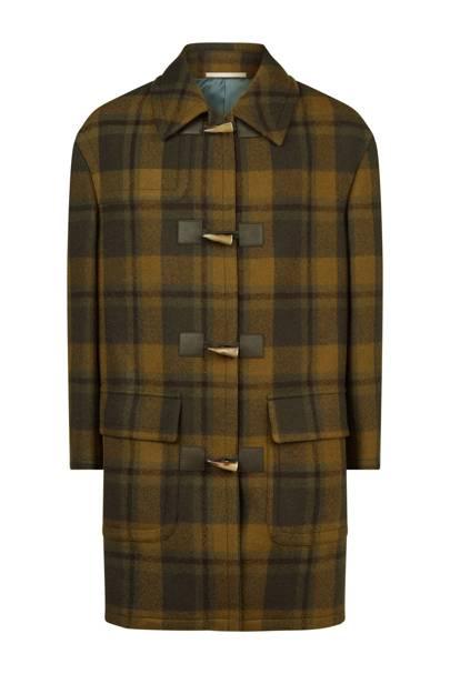 Check duffle coat by Pal Zileri