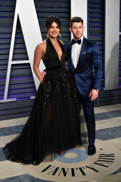 Lapels for days at the Vanity Fair Oscar Party